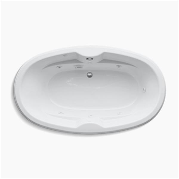KOHLER 72-in x 42-in Oval Drop-in Whirlpool with Custom Pump Location