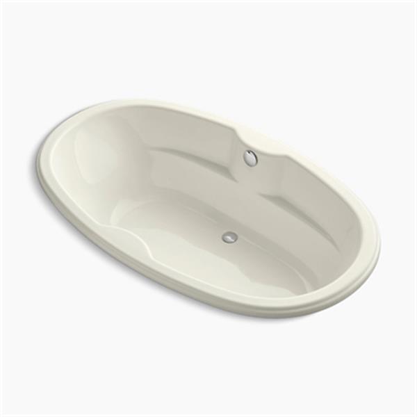 KOHLER 72-in x 43-in Oval Drop-in Bath