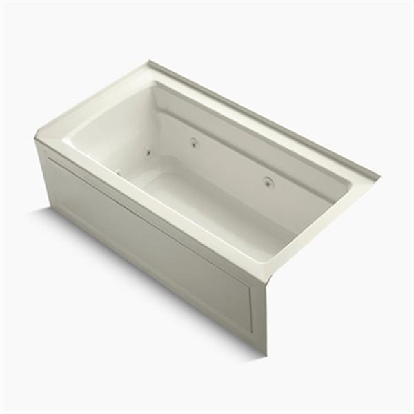 KOHLER 60-in x 32-in Alcove Whirlpool with Integral Apron and Heater