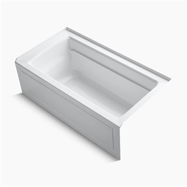 KOHLER 60-in x 32-in Alcove VibrAcoustic Bath with Tile Flange