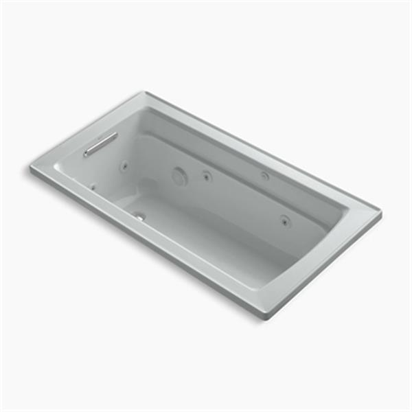 KOHLER 60-in x 32-in Drop-in Whirlpool with Reversible Drain and Bask Heated Surface