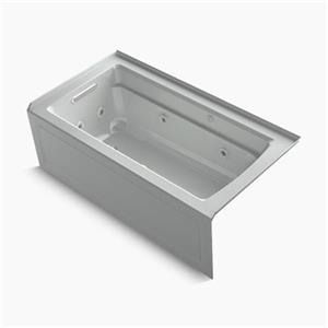KOHLER 60-in x 32-in Integral Apron Whirlpool and BubbleMassage Air Bath