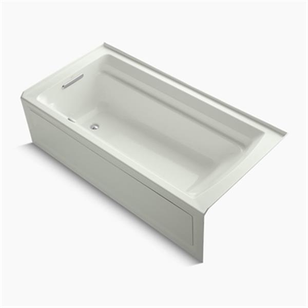 KOHLER 72-in x 36-in Alcove BubbleMassage Air Bath with Integral Flange, Bask Heated Surface