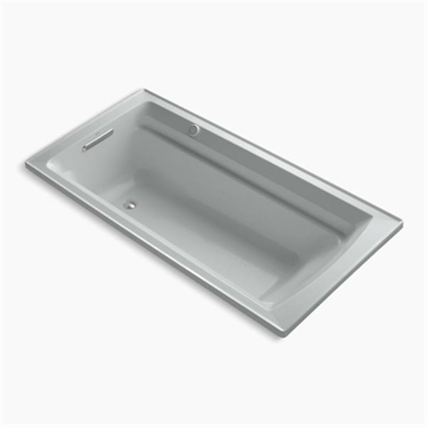 KOHLER 72-in x 36-in Drop-in Bubblemassage Air Bath with Reversible Drain and Bask Heated Surface