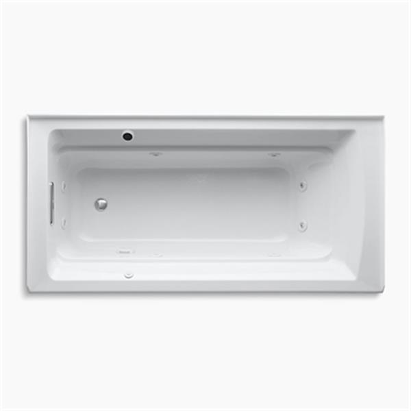 KOHLER 72-in x 36-in Alcove Whirlpool with Integral Tile Flange and Bask Heated Surface