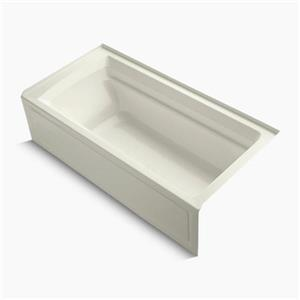 KOHLER 72-in x 36-in Alcove Vibracoustic Bath with Integral Apron, Tile Flange