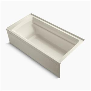 KOHLER 72-in x 36-in Alcove Vibracoustic Bath with Bask Heated Surface, Tile Flange