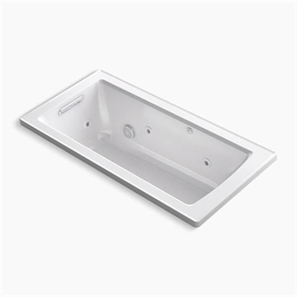 KOHLER 60-in x 30-in Drop-in Whirlpool with Heat and Comfort Depth Design