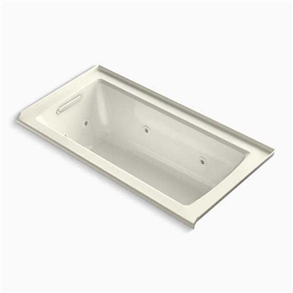 KOHLER 60-in x 30-in Three-Side Integral Flange Whirlpool with Heater