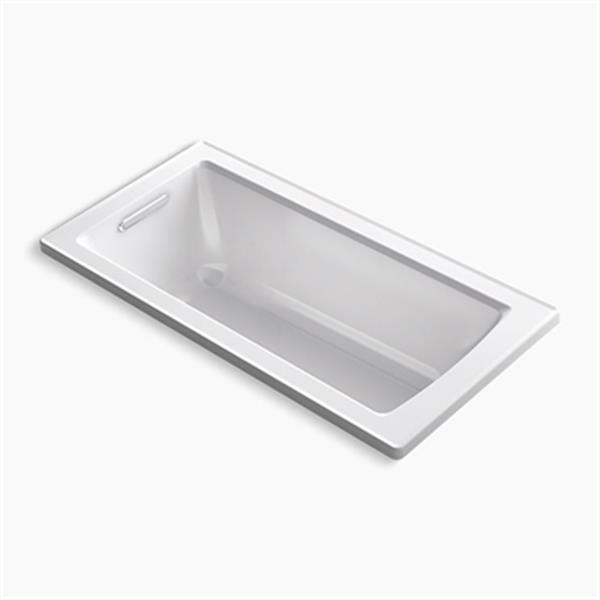 KOHLER 60-in x 30-in Drop-in Vibracoustic Bath with Reversible Drain