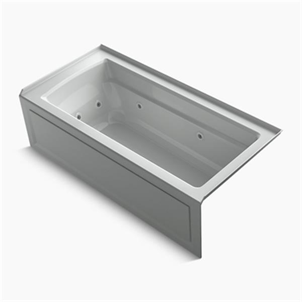 KOHLER 66-in x 32-in Integral Apron Whirlpool with Tile Flange and Heater