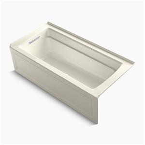KOHLER BubbleMassage 66-in x 32-in Whirlpool Bath with Integral Apron