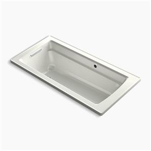 KOHLER 66-in x 32-in Drop-in Bath with Bask Heated Surface and Reversible Drain