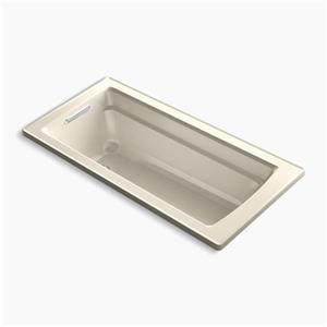 KOHLER 66-in x 32-in Drop-in VibrAcoustic Bath with Reversible Drain