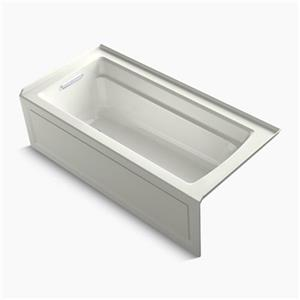 KOHLER 66-in x 32-in Alcove VibrAcoustic Bath with Integral Apron, Tile Flange