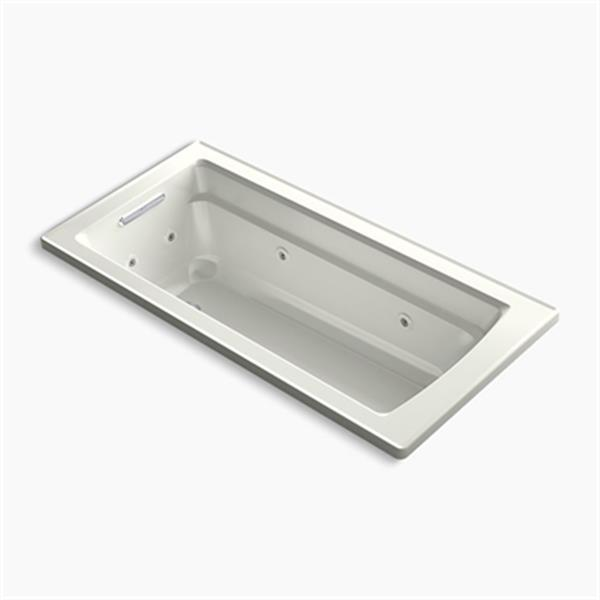 KOHLER 66-in x 32-in Drop-in Whirlpool with Bask Heated Surface