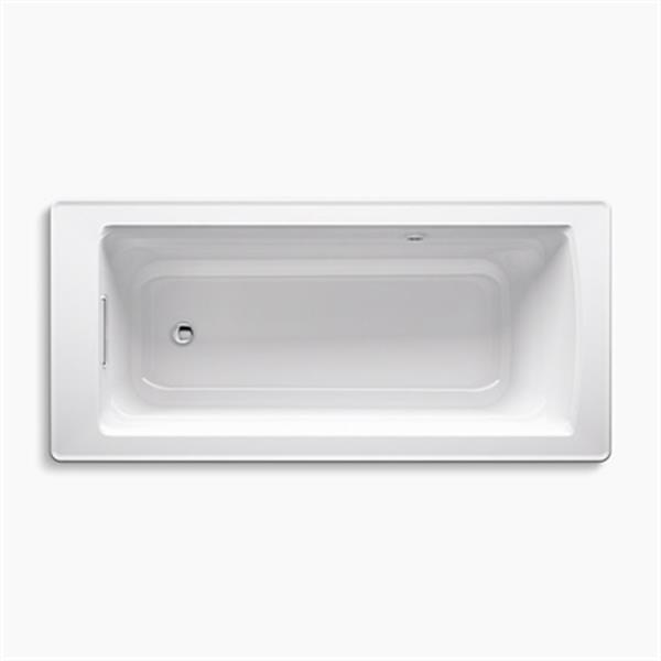 KOHLER 68-in x 32-in Freestanding Bath with Bask Heated Surface