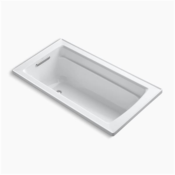 KOHLER 60-in x 32-in Drop-in Bath with Reversible Drain Location