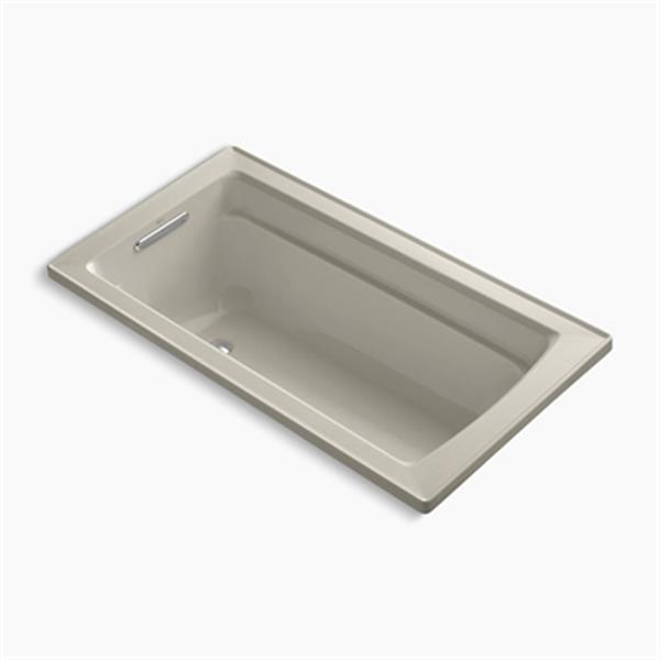 KOHLER 60-in x 32-in Drop-in Bath with Reversible Drain Location