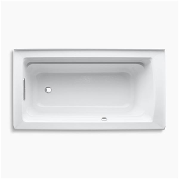 KOHLER Archer 60-in x 32-in Alcove bath with Bask Heated Surface