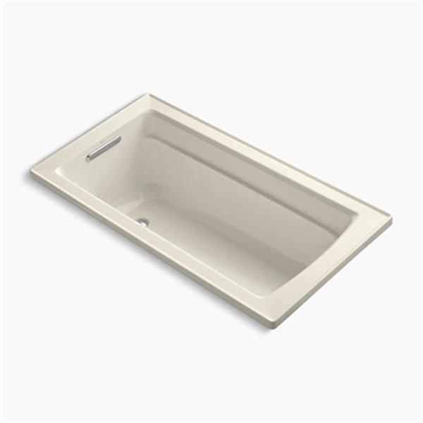 KOHLER 60-in x 32-in Drop-in Bath with Bask Heated Surface and Drain