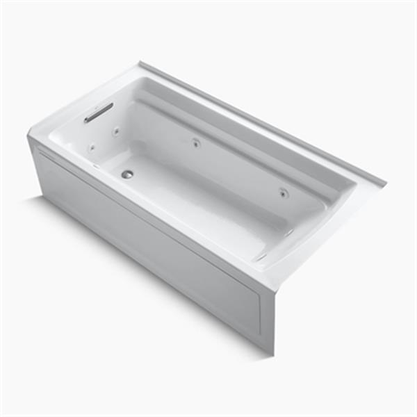 KOHLER 72-in x 36-in Alcove Whirlpool with Integral Apron and Drain