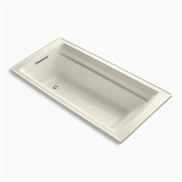 KOHLER 72-in x 36-in Drop-in Bath with Bask Heated Surface and Reversible Drain