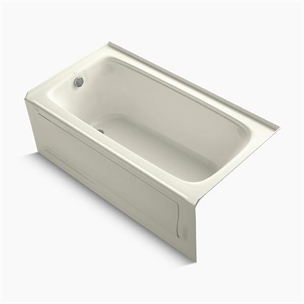KOHLER 60-in x 32-in Alcove BubbleMassage Air Bath with Integral Apron and Drain