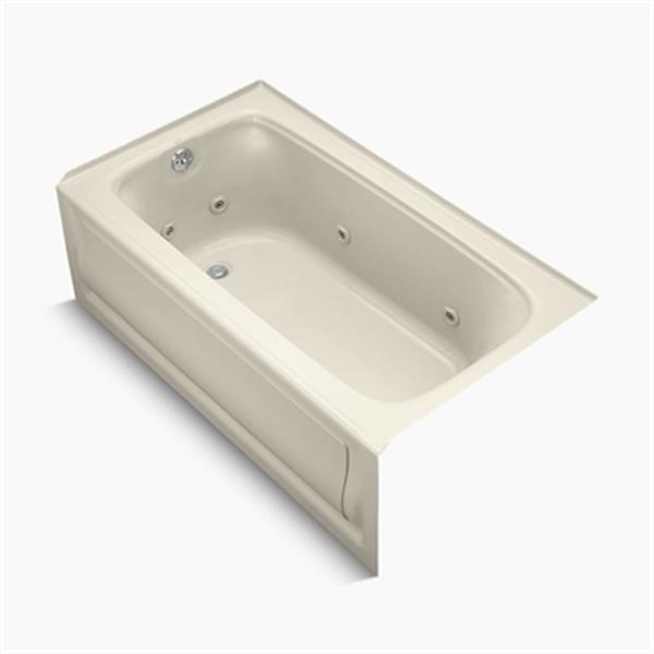 KOHLER 60-in x 32-in Alcove Whirlpool with Integral Apron