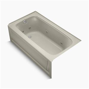 KOHLER 60-in x 32-in Alcove Whirlpool with Integral Apron, Tile Flange and Drain
