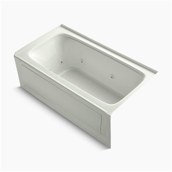 KOHLER 60-in x 32-in Alcove Whirlpool with Tile Flange, Drain and Bask Heated Surface
