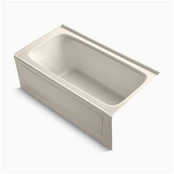 KOHLER 60-in x 32-in Alcove Bath with Integral Apron and VibrAcoustic Technology