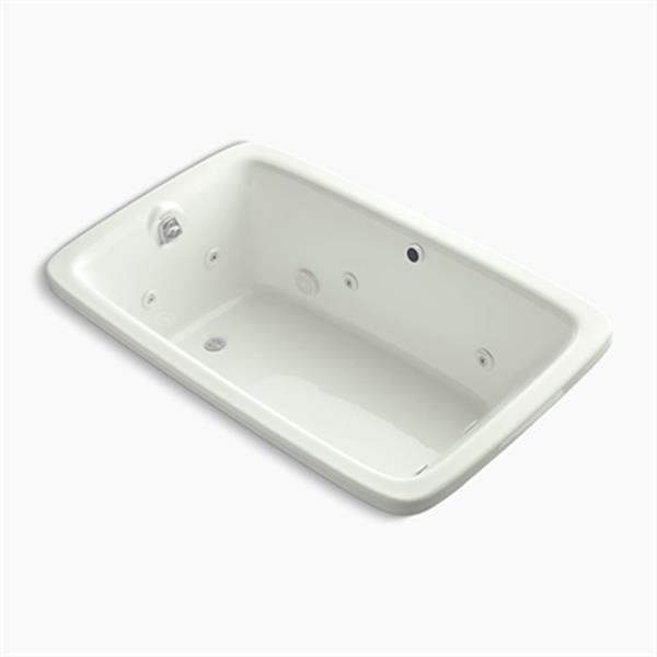 KOHLER 66-in x 42-in Drop-in Whirlpool with Heater without Jet Trim