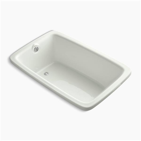 KOHLER 66-in x 42-in Drop-in Bath with VibrAcoustic Technology and Reversible Drain