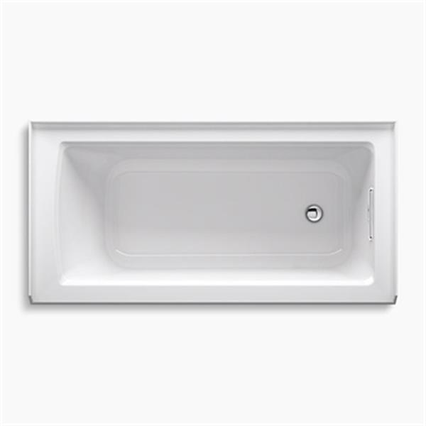 KOHLER 60-in x 30-in Alcove Bath with Tile Flange and Drain