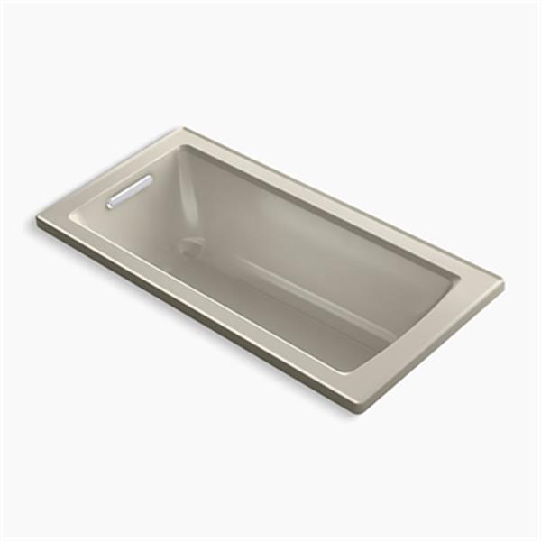 KOHLER 60-in x 30-in Drop-in Bath with Bask Heated Surface and Reversible Drain