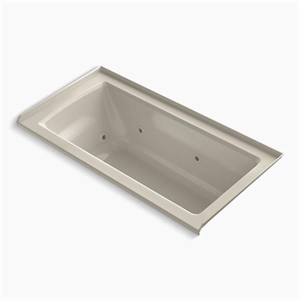 KOHLER 60-in x 30-in Alcove Whirlpool with Integral Flange and Drain