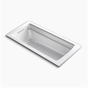 KOHLER 66-in x 32-in Drop-in Bath Reversible Drain