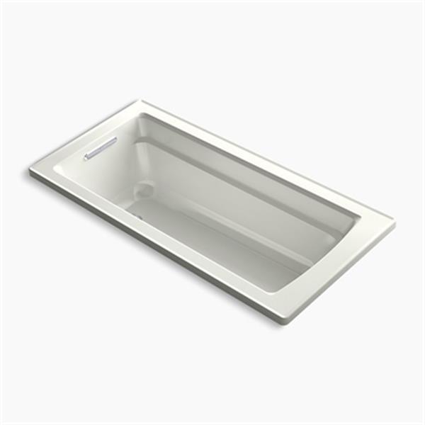 KOHLER 66-in x 32-in Drop-in Bath Reversible Drain