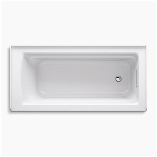 KOHLER ExoCrylic 66-in x 32-in Three-Side Integral Flange Bath