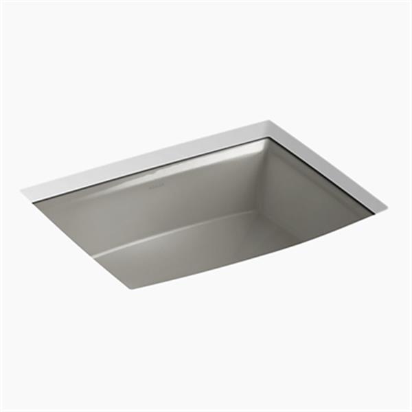 KOHLER Archer 19.88-in x 7.50-in Cashmere Porcelain Fire Clay Under Counter Sink