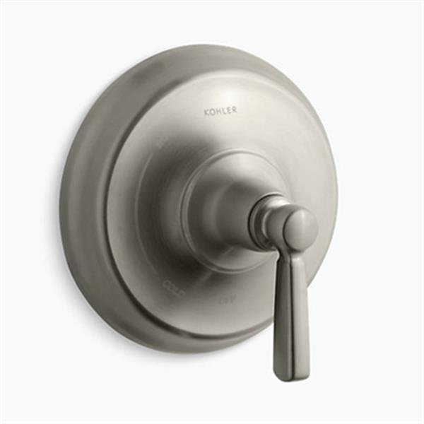 KOHLER Bancroft Vibrant Brushed Nickel Lever Handle Rite-Temp Press-Balancing Valve Trim