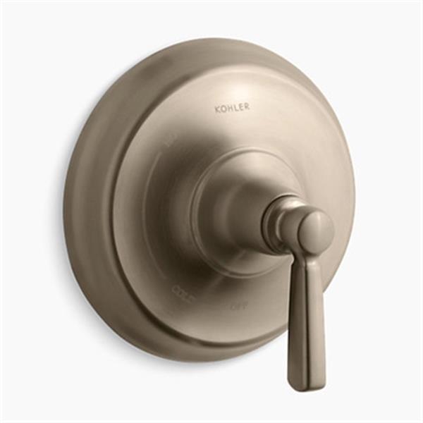 KOHLER Bancroft Vibrant Brushed Bronze Lever Handle Rite-Temp Press-Balancing Valve Trim