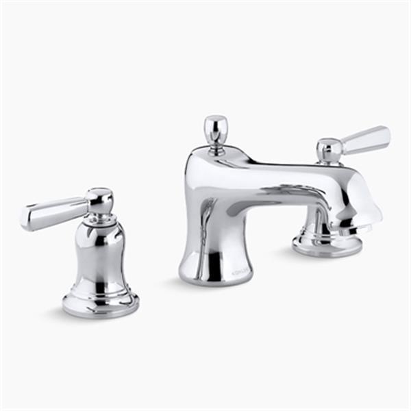 KOHLER Bancroft 6-in Polished Chrome Deck/Bathroom Sink Faucet