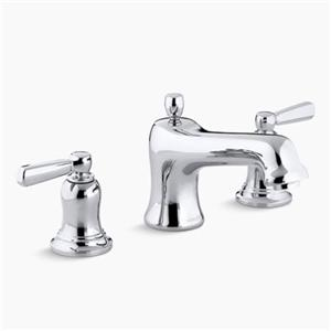 Kohler Co Bancroft 6-in Polished Chrome Deck/Bathroom Sink Faucet