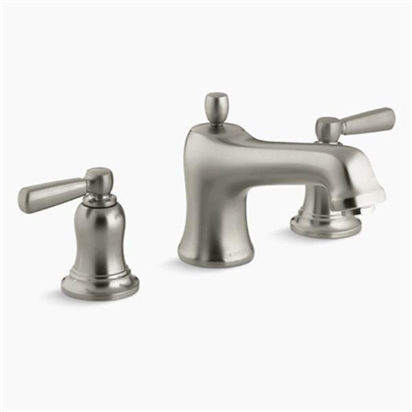 KOHLER Bancroft 6-in Brushed Nickel Deck/Bathroom Sink Faucet