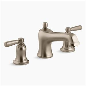 Kohler Co Bancroft 6-in Brushed Bronze Deck/Bathroom Sink Faucet