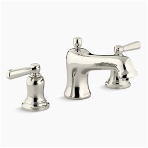 KOHLER Bancroft 6-in Polished Nickel Deck/Bathroom Sink Faucet