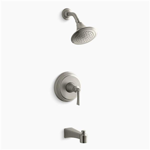 KOHLER Archer Vibrant Brushed Nickel Bath and Shower Trim Set with Lever Handle