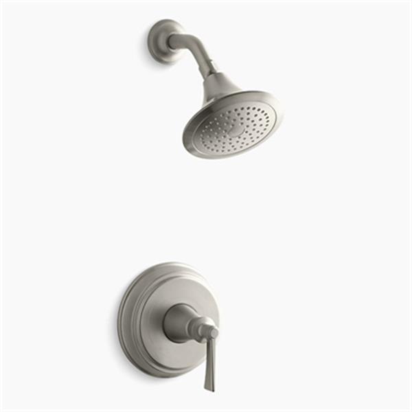 KOHLER Archer Vibrant Brushed Nickel Shower Trim Set with Lever Handle